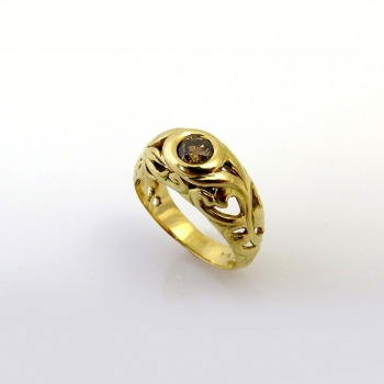 -Art nouveau engagement ring