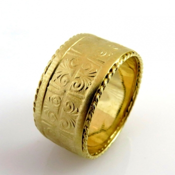 -Egyptian style wedding ring
