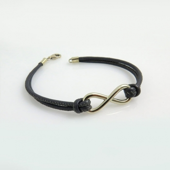 Man infinity bracelet
