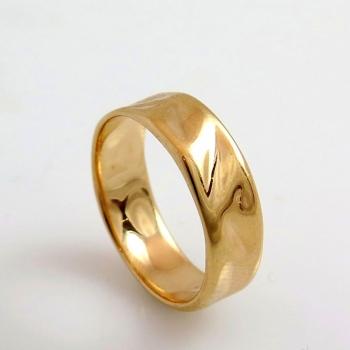 Satin gold wedding ring