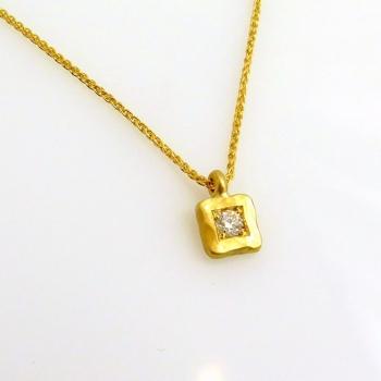 -Square diamond pendant