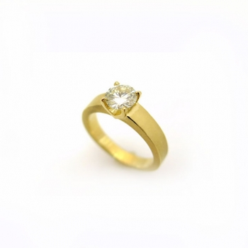 -Solitaire geometric ring