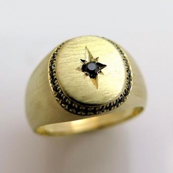 -Engraved signet ring
