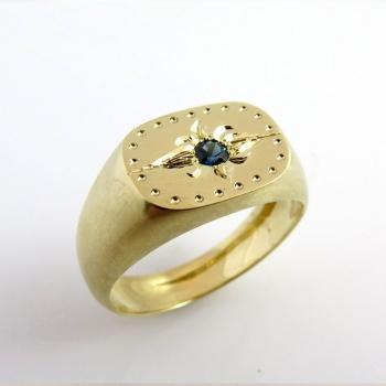 Sapphire signet ring