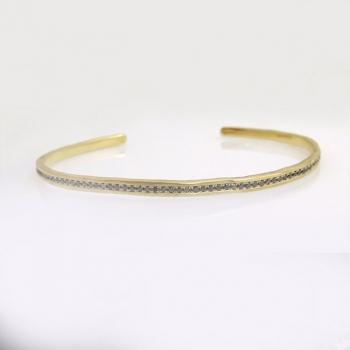 Rough bracelet and ring black diamonds
