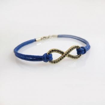 Black diamond infinity bracelet