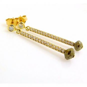 -Rose cut earrings