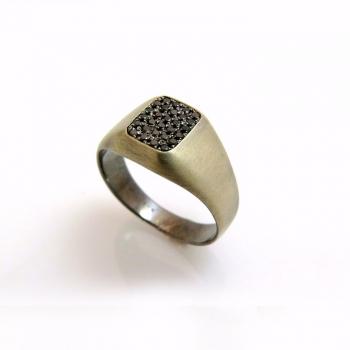 -Black pinky ring