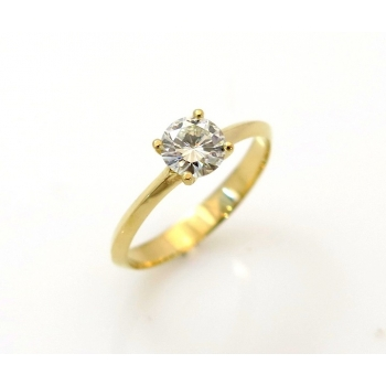 Solitaire modern ring