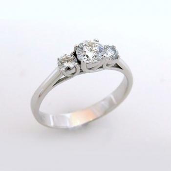 -Trio diamond engagement ring