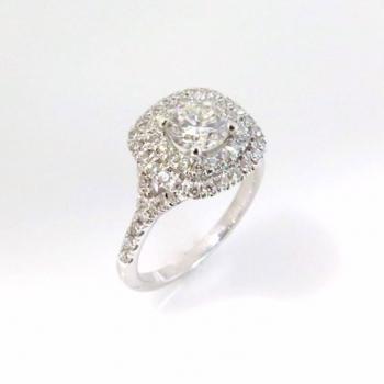 -Halo engagement ring