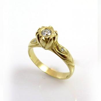 Lotus engagement ring