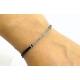 Black diamond woven bracelet